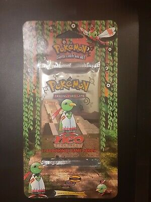 2001 Pokemon Neo Discovery Xatu Art Blister Pack Factory Sealed Unweighed