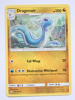Dragonair 150/236 (NM, Pokemon Card, Unified Minds, 2019, Dragon, Uncommon)