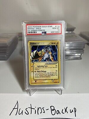 RAIKOU GOLD STAR 114/115 PSA 10 Pokemon Ex Unseen Forces