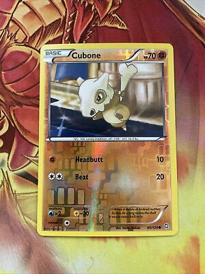 POKEMON BLACK & WHITE DRAGONS EXALTED - CUBONE 60/124 reverse
