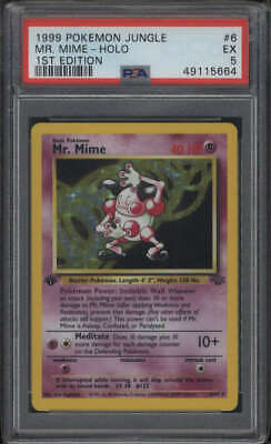 1999 Pokemon Jungle 1st Edition Mr. Mime Holo #6/64 PSA 5 EX