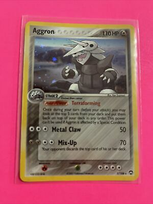 Aggron 1/108 - EX Power Keepers Stamped Holo Rare Pokemon Card 2007 TCG