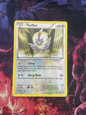 Rufflet 111/124 Dragons Exalted Pokemon NM Reverse Holofoil Please See Pictures