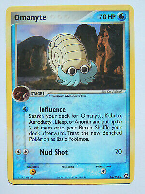 Omanyte 56/108 (LP, Pokemon Card, EX Power Keepers, 2007, Water, Common)