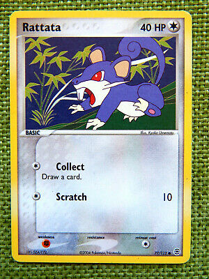 Rattata 77/112 (NM, Pokemon Card, EX FireRed & LeafGreen, 2004 Colorless Common)