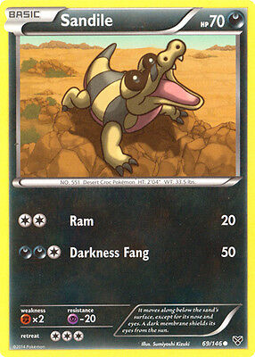 x4 Sandile - 69/146 - Common Pokemon XY Base Set M/NM English