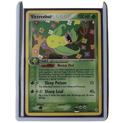 VICTREEBEL 13/92 EX LEGEND MAKER HOLO FOIL RARE POKEMON CARD - Look At Pictures