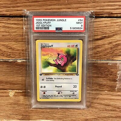 1999 Pokemon 'Jigglypuff' 1st Edition #54 Jungle 54/64 PSA 9