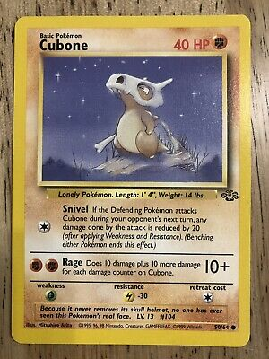 NM-Cubone 50/64 JUNGLE Pokemon Card