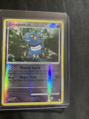 Pokemon Card Croagunk LV.17 Mysterious Treasures 78/123 Reverse Holo!!