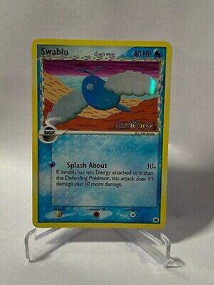 Pokemon Swablu 65/101 EX Dragon Frontier Stamped Holofoil 2006 LP-MP See Pic
