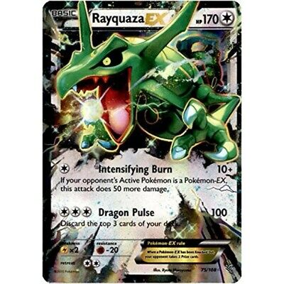 Pokemon Rayquaza EX Ultra rare Roaring Skies 75/108 Mint/NM