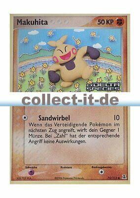 Pokemon EX Delta Species 75/113 - Makuhita - Reverse Holo Deutsch