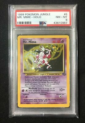 1999 Pokemon Jungle Set HOLO Mr. Mime PSA 8 NM-MT #6 Graded