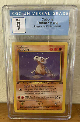 Pokemon Jungle Cubone 1st Edition 50/64 CGC 9 Mint
