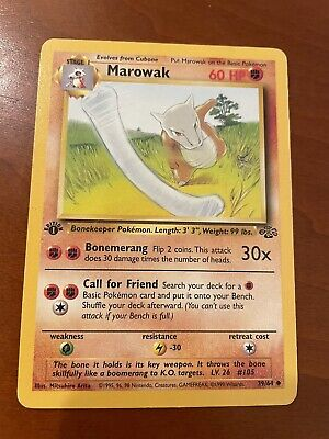 Marowak 1st Edition Jungle 39/64 Pokemon Trading Card Game TCG