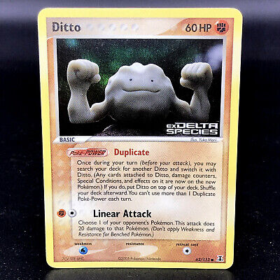 Ditto Stamped Stamped Holo - EX Delta Species 62/113 - Pokemon Card