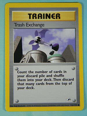 TRASH EXCHANGE Trainer Pokemon Gym Heroes Card 126/132 Common VG NM PreOwned