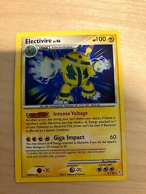 Electivire 3/130 non - Holo - Rare Pokemon Card - Near Mint - Diamond & Pearl