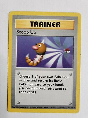 Scoop Up - Base Set - 78/102 - Rare - Pokemon Card - EXC/Near Mint Condition