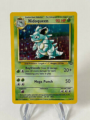 Nidoqueen 7/64 - Holo Rare - Vintage 1999 Jungle Set Pokemon Card