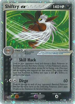 Shiftry ex 097 NM EX Power Keepers Pokemon Card Tracked Shipping