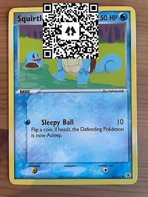 Squirtle - 82/112 - Common - EX FireRed & LeafGreen - NM - Pokemon - Non Holo