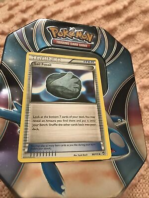 Pokemon --- SAIL FOSSIL --- XY Furious Fists! Uncommon Trainer! MINT! 98/111