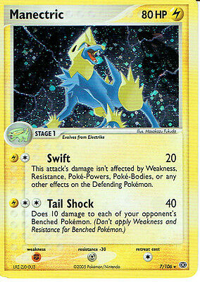 POKEMON EX EMERALD EXPANSION RARE FOIL CARD 7/106 MANECTRIC grade 9/10