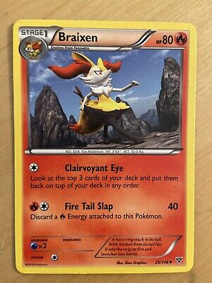 Braixen 25/146 - Uncommon Pokemon Card - XY Base Set (2014) - NM