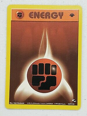 Awesome WOTC 2000 Pokemon Gym Heroes 1st Edition Fighting Energy 127/132 nm/mint