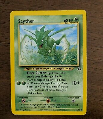 Scyther 46/75 - MP/HP - Neo Discovery Pokemon Card