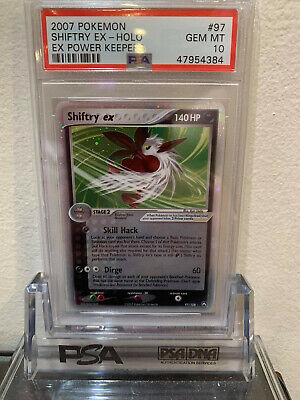 PSA 10 Holo Shiftry Ex Power Keepers Pokemon Card 97/108