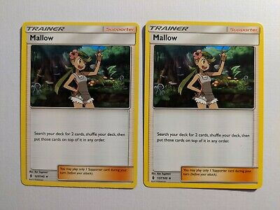 Pokemon Cards ×2 Trainer Mallow 127/145 Guardians Rising Uncommon NM
