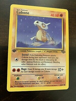 Pokemon Cubone 1st Edition Jungle #50/64 Mint Condition
