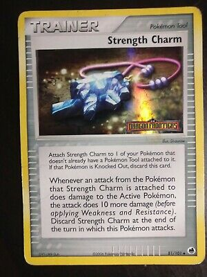 Pokemon TCG - Strength Charm 81/101 EX Dragon Frontiers Holo Card - HEAVY PLAY