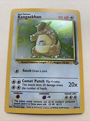 Pokemon Kangaskhan Jungle Holo #5/64 Mint Condition