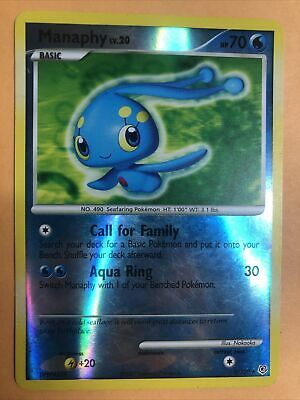 Manaphy 9/130 Diamond And Pearl Reverse Holographic Pokemon Card