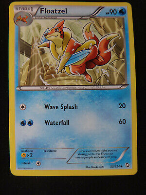 Pokemon Card: FLOATZEL #33/124 Dragons Exalted 2012 - Non-Holo Uncommon NM