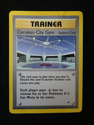 Pokemon Card: Trainer CERULEAN CITY GYM - #108/132 Gym Heroes - Uncommon - LP