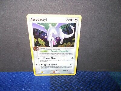 Pokemon Trading Card -Aerodactyl Holo Rare 1/92 Legend Maker FREE UK Postage