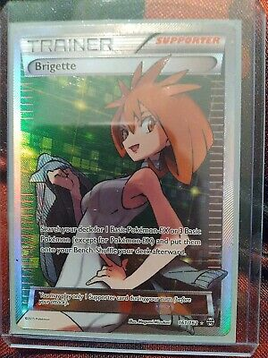 Pokemon XY Breakthrough Full Art LP Brigette Holo Ultra Rare #161