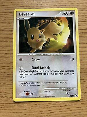 Pokemon D&P Majestic Dawn Set COMMON Eevee 63/100 - Near Mint (NM) Condition