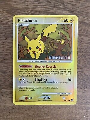 Pokemon Pikachu reverse holo 94/123 Diamond & Pearl - Mysterious Treasures 2007
