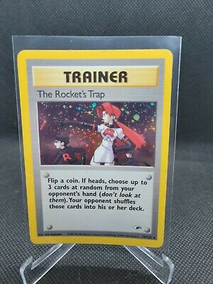 The Rocket's Trap - 19/132 Gym Heroes (2000) - Holo Rare Pokemon Card NM/Mint