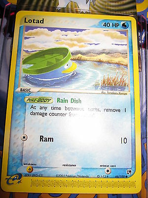 Pokemon Mint (◕‿◕✿) Ex Sandstorm English Lotad 66/100 Com 1st Edition (2003)