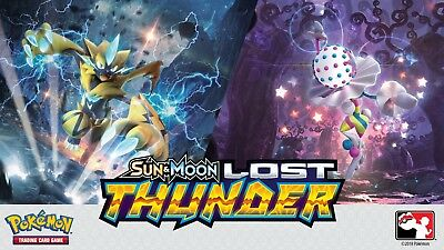 Pokemon: Sun and Moon - Lost Thunder - Rare Card and Reverse Holo Singles