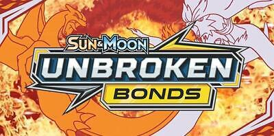 Pokemon Sun and Moon: Unbroken Bonds - Uncommon / Common  Single Holo Cards