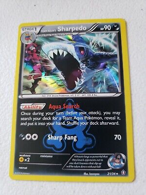Pokemon TEAM AQUA'S SHARPEDO 21/34 - Double Crisis RARE HOLO -NM