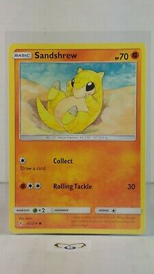Sandshrew  83/214  S&M: Unbroken Bonds   Common  Mint/NM Pokemon